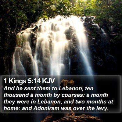 1 Kings 5:14 KJV Bible Verse Image