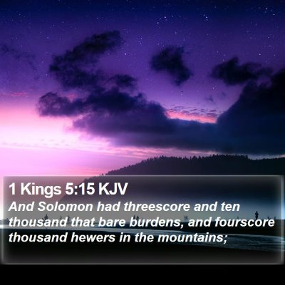 1 Kings 5:15 KJV Bible Verse Image