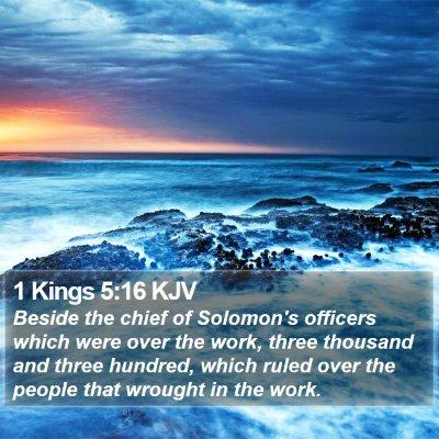 1 Kings 5:16 KJV Bible Verse Image