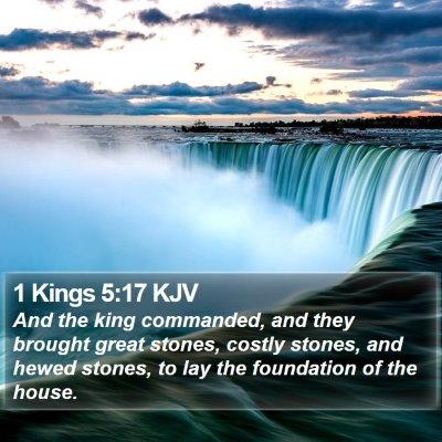 1 Kings 5:17 KJV Bible Verse Image