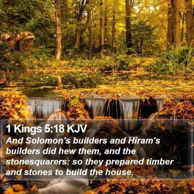 1 Kings 5:18 KJV Bible Verse Image