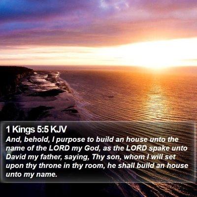 1 Kings 5:5 KJV Bible Verse Image