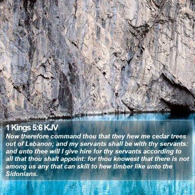 1 Kings 5:6 KJV Bible Verse Image