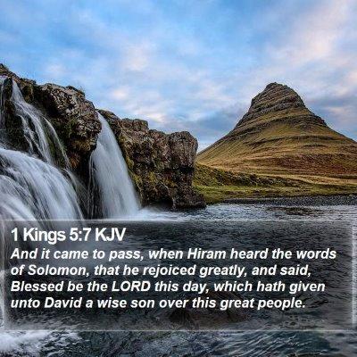 1 Kings 5:7 KJV Bible Verse Image