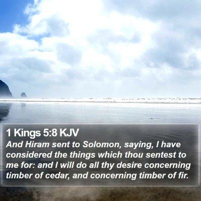 1 Kings 5:8 KJV Bible Verse Image