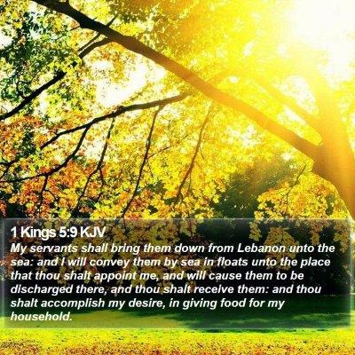 1 Kings 5:9 KJV Bible Verse Image