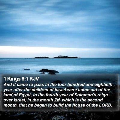 1 Kings 6:1 KJV Bible Verse Image