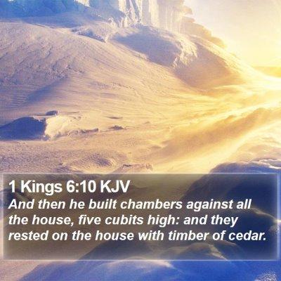 1 Kings 6:10 KJV Bible Verse Image