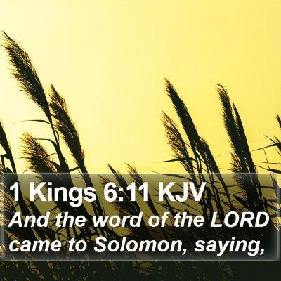 1 Kings 6:11 KJV Bible Verse Image