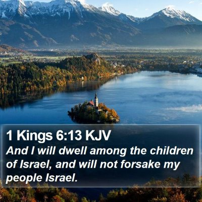 1 Kings 6:13 KJV Bible Verse Image