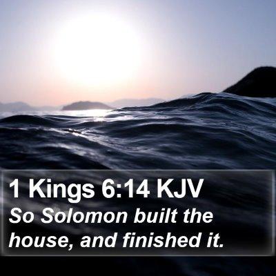 1 Kings 6:14 KJV Bible Verse Image