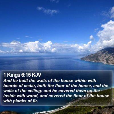 1 Kings 6:15 KJV Bible Verse Image