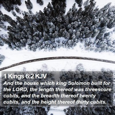 1 Kings 6:2 KJV Bible Verse Image