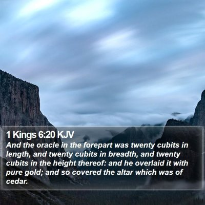 1 Kings 6:20 KJV Bible Verse Image