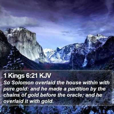 1 Kings 6:21 KJV Bible Verse Image