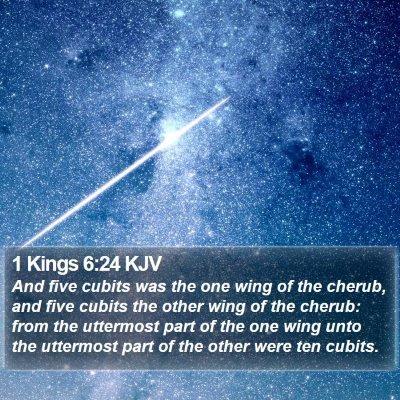 1 Kings 6:24 KJV Bible Verse Image