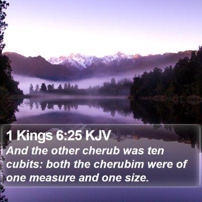 1 Kings 6:25 KJV Bible Verse Image