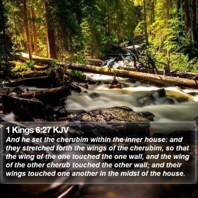 1 Kings 6:27 KJV Bible Verse Image
