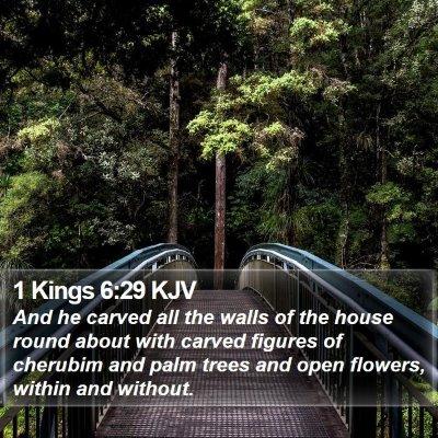 1 Kings 6:29 KJV Bible Verse Image