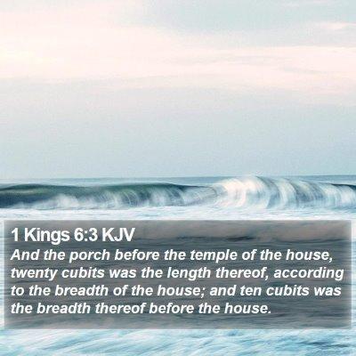 1 Kings 6:3 KJV Bible Verse Image