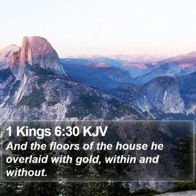1 Kings 6:30 KJV Bible Verse Image