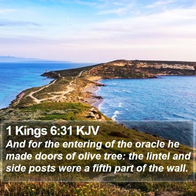 1 Kings 6:31 KJV Bible Verse Image