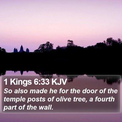 1 Kings 6:33 KJV Bible Verse Image