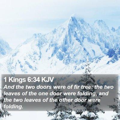 1 Kings 6:34 KJV Bible Verse Image