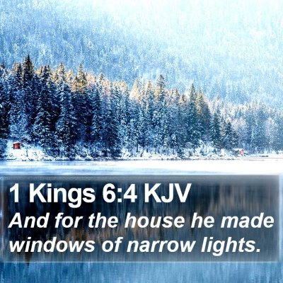 1 Kings 6:4 KJV Bible Verse Image
