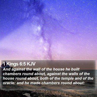 1 Kings 6:5 KJV Bible Verse Image