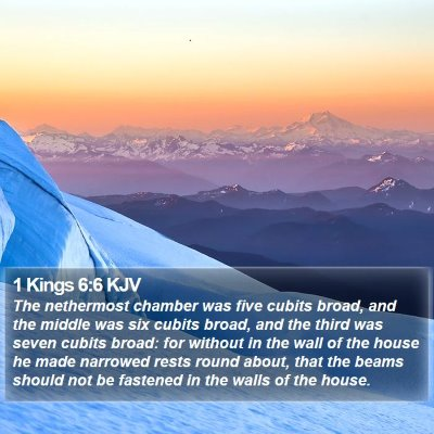 1 Kings 6:6 KJV Bible Verse Image