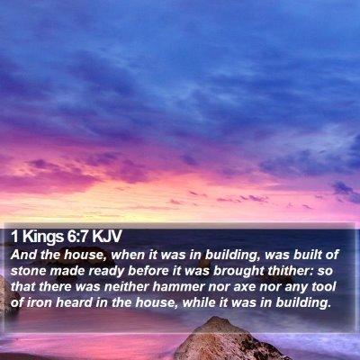 1 Kings 6:7 KJV Bible Verse Image