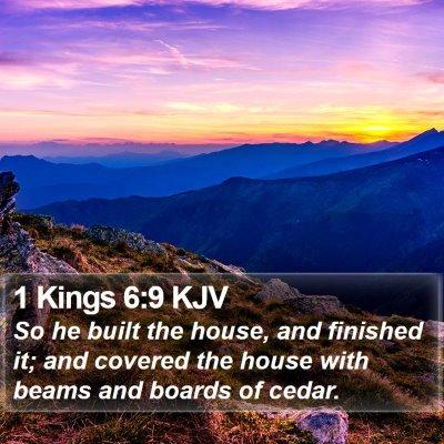 1 Kings 6:9 KJV Bible Verse Image