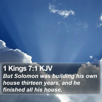 1 Kings 7:1 KJV Bible Verse Image