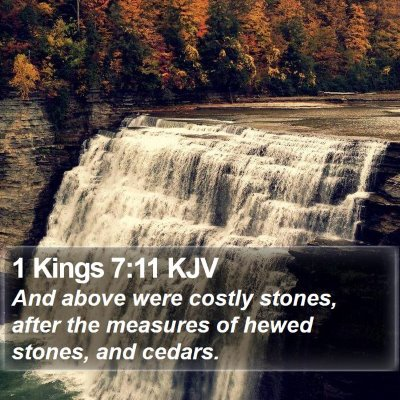 1 Kings 7:11 KJV Bible Verse Image
