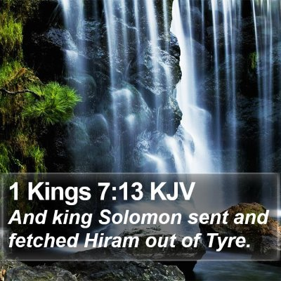 1 Kings 7:13 KJV Bible Verse Image
