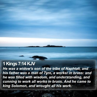 1 Kings 7:14 KJV Bible Verse Image