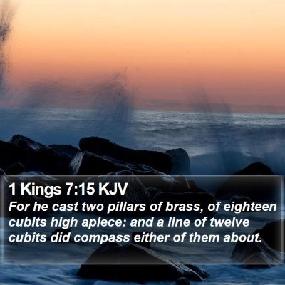 1 Kings 7:15 KJV Bible Verse Image