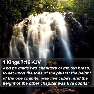 1 Kings 7:16 KJV Bible Verse Image