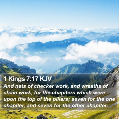 1 Kings 7:17 KJV Bible Verse Image