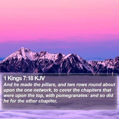 1 Kings 7:18 KJV Bible Verse Image