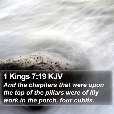 1 Kings 7:19 KJV Bible Verse Image