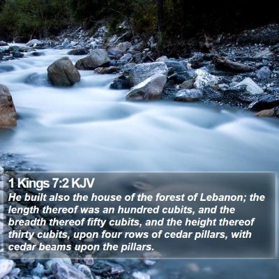 1 Kings 7:2 KJV Bible Verse Image