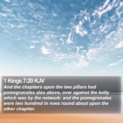 1 Kings 7:20 KJV Bible Verse Image