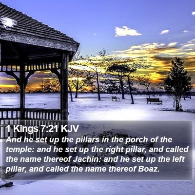1 Kings 7:21 KJV Bible Verse Image