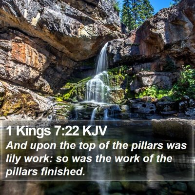 1 Kings 7:22 KJV Bible Verse Image