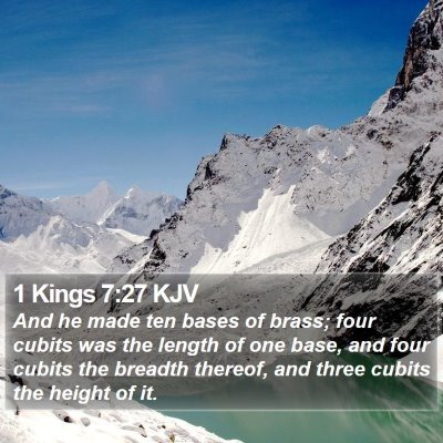 1 Kings 7:27 KJV Bible Verse Image