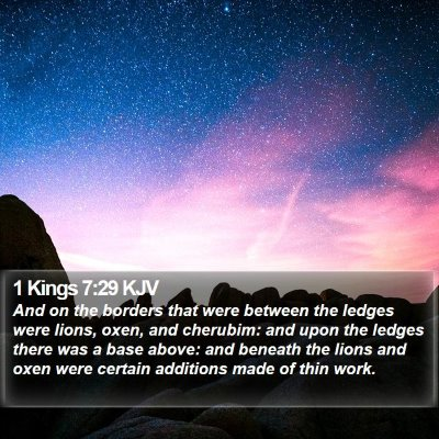 1 Kings 7:29 KJV Bible Verse Image