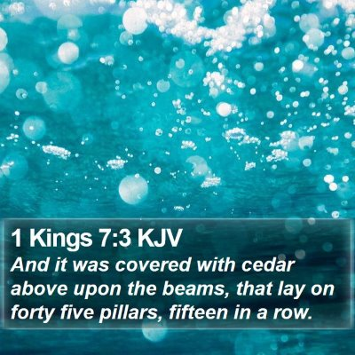 1 Kings 7:3 KJV Bible Verse Image