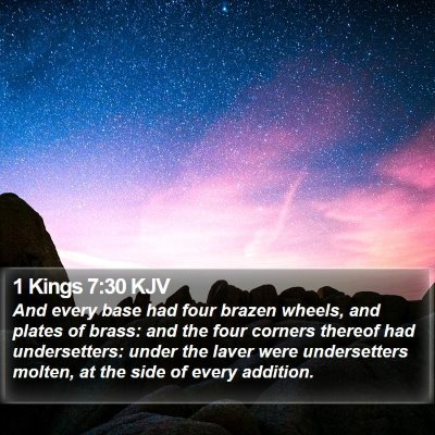 1 Kings 7:30 KJV Bible Verse Image